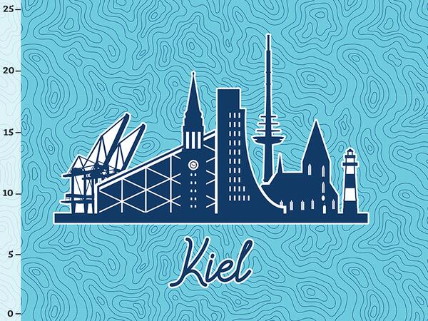 Bio-Jersey Kiel XL Panel blau - Städte-Kollektion by...