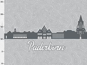 Bio-Jersey Paderborn XL Panel grau - Städte-Kollektion by...