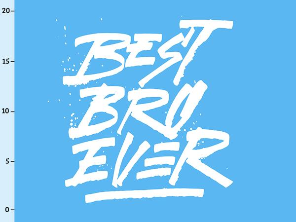 Bio-Jersey BEST BRO EVER Panel, Super Bruder exklusiv by...