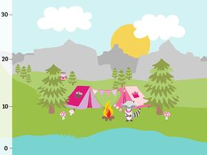 Bio-Jersey skyline Camper Panel, Camping Kids by Bio-Box