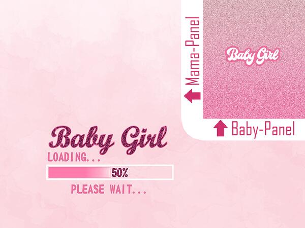 Bio-Jersey, 2tlg. XL Set BABY GIRL loading Umstands-Panel...