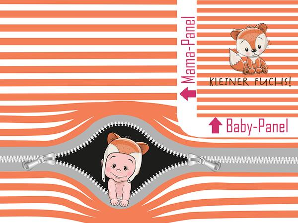 .Bio-Jersey Baby-stripes Kombi FUCHS - orange, bald-Mama-Serie by BioBox