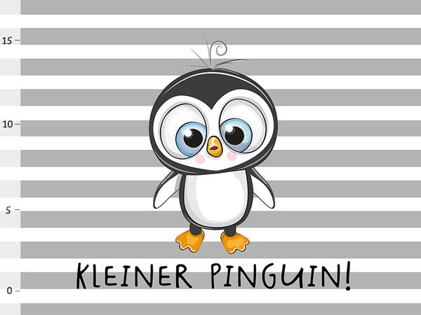 Bio-Jersey PANEL kleiner Pinguin, bald-Mama-Serie by Bio-Box