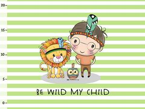 Bio-Jersey PANEL kleiner Löwe, be wild my child,...