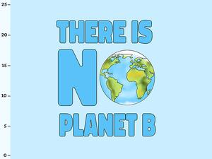 .Bio-Jersey Panel there is no planet b, statement für den...