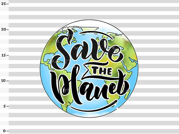 .Bio-Jersey Panel save the planet, statement für den Umweltschutz by Bio-Box