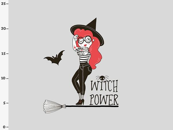 Bio-Sommersweat WITCH POWER Panel, Hexen-Kollektion by...
