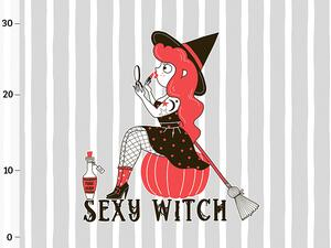 Bio-Sommersweat XL Panel SEXY WITCH, witch power...