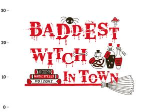 Bio-Sommersweat XL Panel baddest witch II, witch power...