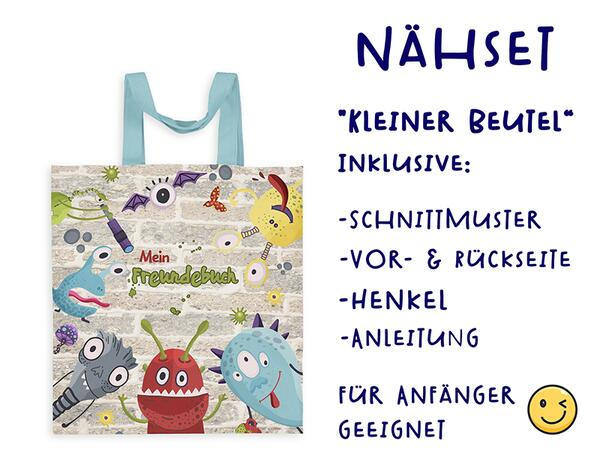 Nähset Tasche MONSTER Freundebuch, Canvas Biobox