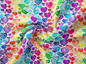 Bio-Jersey, rainbow hearts watercolor by Bio-Box