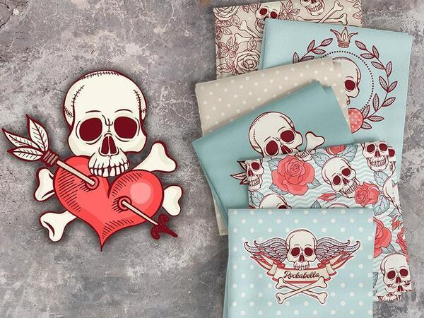 Bio-Jersey, Rockabella Panel love & heart by BioBox