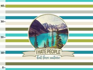 BIO-Jersey, (h)ate people - love nature XL Panel stripes,...