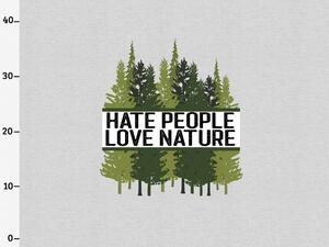 BIO-Jersey, hate people & love nature XL Panel grau...