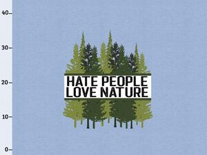 BIO-Jersey, hate people & love nature XL Panel jeansblau...