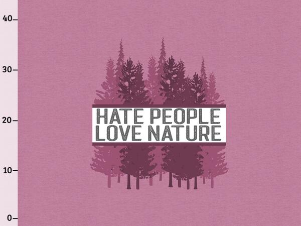 BIO-Jersey, hate people & love nature XL Panel beere...