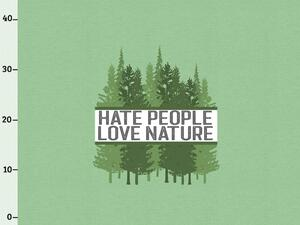 BIO-Jersey, hate people & love nature XL Panel grün...