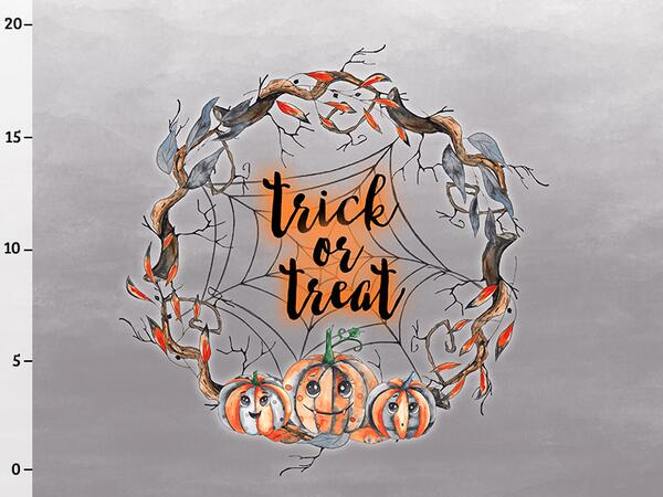 Bio-Sommersweat trick or treat Panel, happy halloween by Bio-Box
