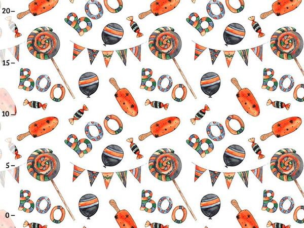 Bio-Sommersweat Lollies Boo, happy halloween by BioBox,...