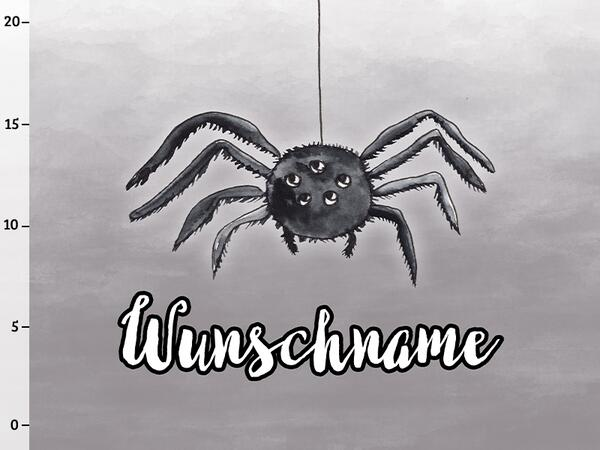 Bio-Sommersweat WUNSCHNAME Panel Spinne, happy halloween, BioBox
