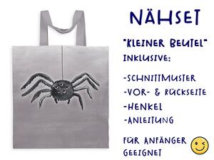 Nähset Tasche Spinne, happy halloween, Canvas Biobox