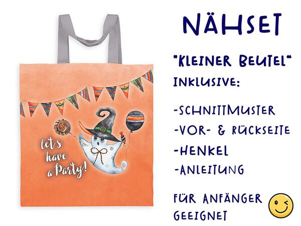 Nähset Tasche let´s have a party, happy halloween, Canvas...