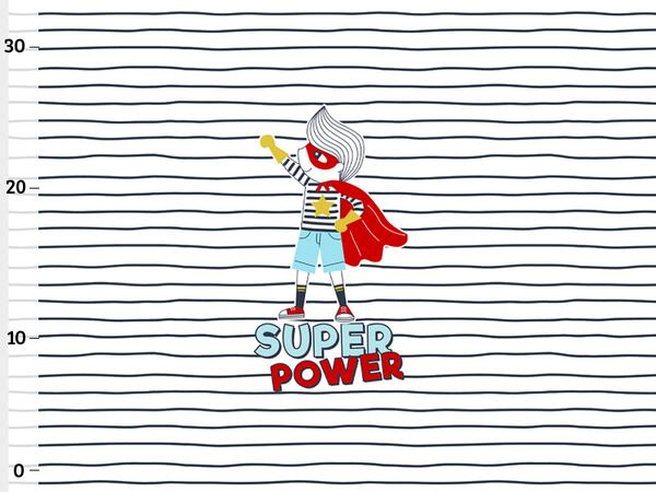 Bio-Jersey, super power stripes Panel, super boy by...