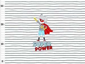 Bio-Jersey, super power stripes Panel, super boy by BioBox