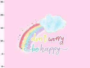 Bio-Jersey Panel dontt worry - be happy Bärchen...
