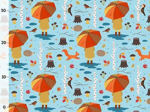 Bio-Sommersweat rainy day auf blau, Herbstliebe by BioBox