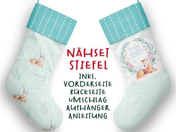 Nähset XL Stiefel, Reh, inkl. Schnittmuster, Advent /...
