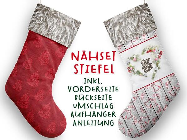 Nähset XL Stiefel, let it snow, inkl. Schnittmuster,...