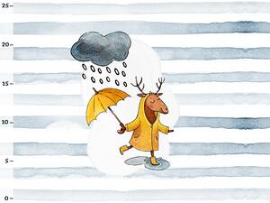 Bio-Sommersweat Schietwetter rainy day PANEL by BioBox
