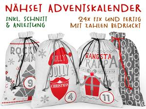.Nähset Adventskalender, cool rocking christmas, 24x...