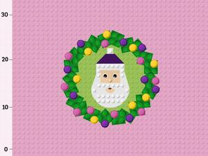Bio-Jersey Bausteine Santa girl Panel by BioBox
