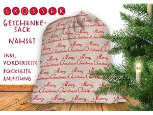 .Nähset Großer Geschenke-Sack merry christmas, Canvas by...