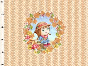 Bio-Sommersweat Eulenherbst Panel little knit by Bio-Box