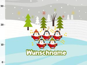 Bio-Sommersweat WUNSCHNAME Panel Pinguine, Arctic...