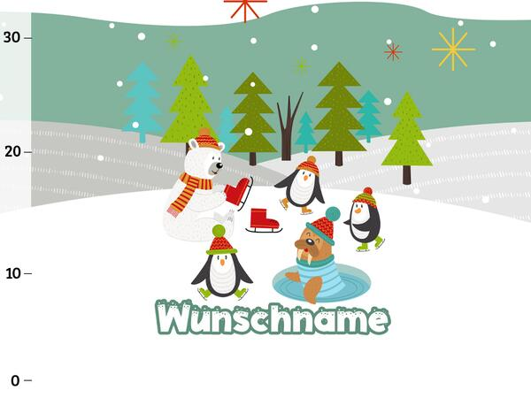 Bio-Sommersweat WUNSCHNAME Panel Schneeparty, Arctic...