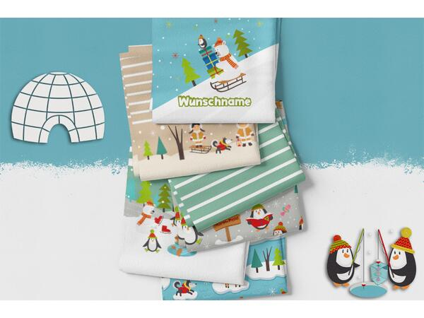 Bio-Sommersweat, PANEL Pinguine, Arctic friends, by BioBox