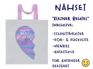Nähset Tasche Best friends, Superfreundin, Canvas Biobox