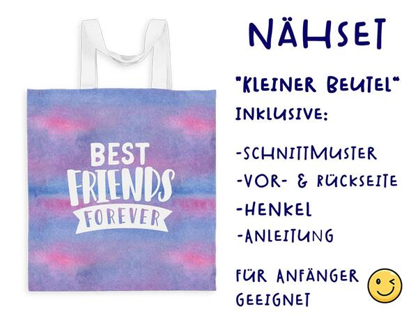 Nähset Tasche Best friends forever, Superfreundin, Canvas...