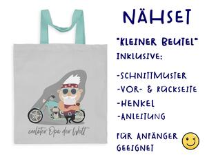 Nähset Tasche Coolster Opa der Welt, Superopa, Canvas Biobox