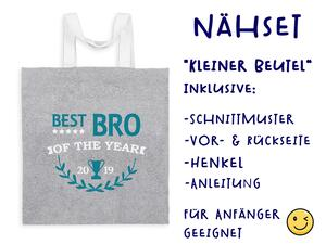 Nähset Tasche Best Bro, Canvas Biobox