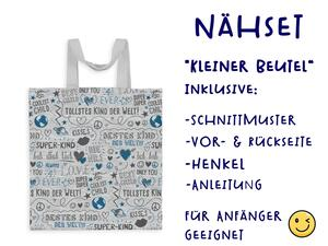 Nähset Tasche SuperKind, grau, Canvas Biobox