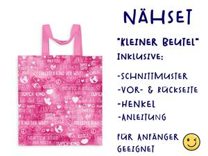 Nähset Tasche SuperKind, watercolor pink, Canvas Biobox
