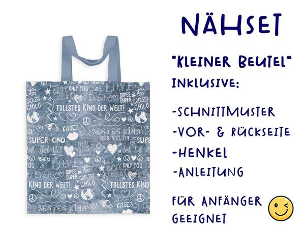 Nähset Tasche SuperKind, jeans, Canvas Biobox