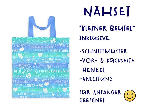 Nähset Tasche SuperKind, türkis blau, Canvas Biobox