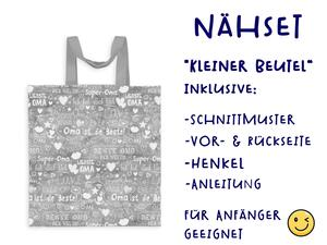 Nähset Tasche SuperOma, grau, Canvas Biobox