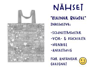 Nähset Tasche SuperOpa, grau, Canvas Biobox